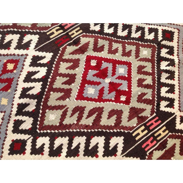 "Image of Vintage Handwoven Turkish Kilim Flat-Weave Wool Rug - 5'5"" X 8'5"""