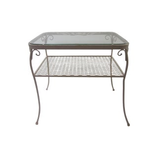 Ornate Salterini Iron Cocktail Patio Table