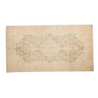 "Vintage Distressed Oushak Rug Runner - 2'9"" x 6'9"""