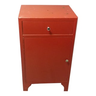Retro Red Metal Cabinet