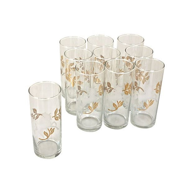"Image of Mid-Century ""Cavalcade"" Glassware - Set of 10"
