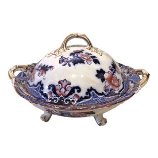 19th Century English Ironstone Covered Tureen, 1860
