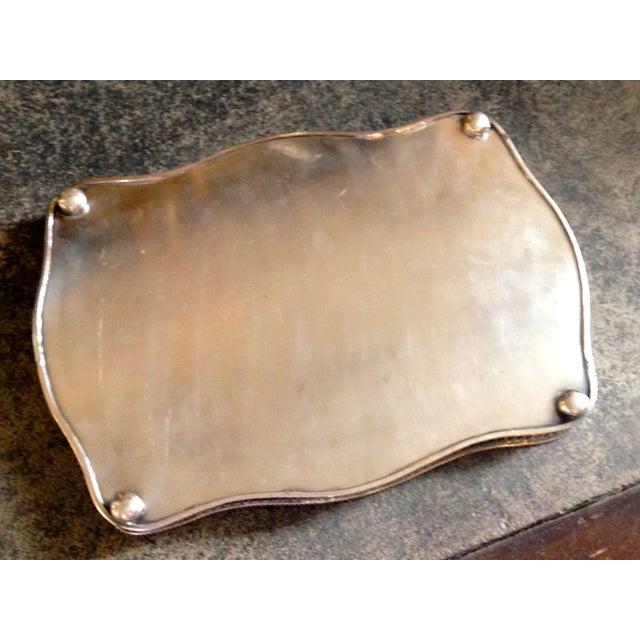Antique English Sheffield Silver Gallery Tray - Image 3 of 4