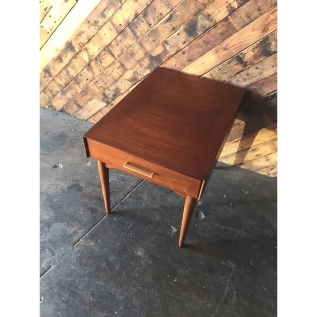 Image of Mid-Century Refinished Side Table With Drawer