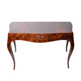 Vintage Burlwood Veneer Desk