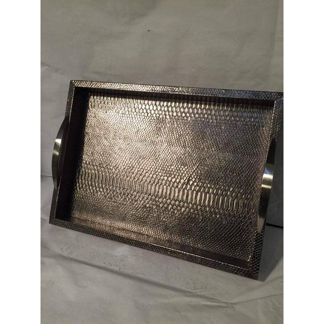 Image of Bronze Snakeskin Handled Tray