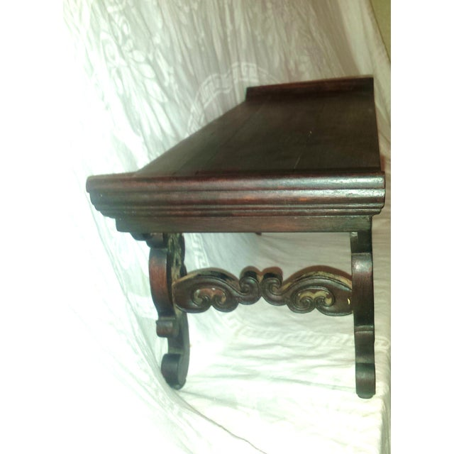 Small Antique Chinese Lacquered Wooden Altar Bench - Image 4 of 11
