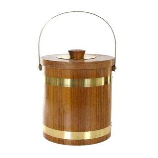 Brass & Wood Ice Bucket