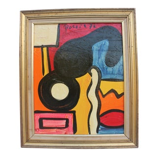 1972 Peter Keil Expressionist Painting