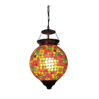 Multicolored Mosaic Globe Lantern