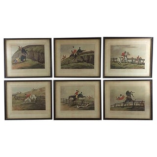 English Hunting Prints, 1878 - Set of 6