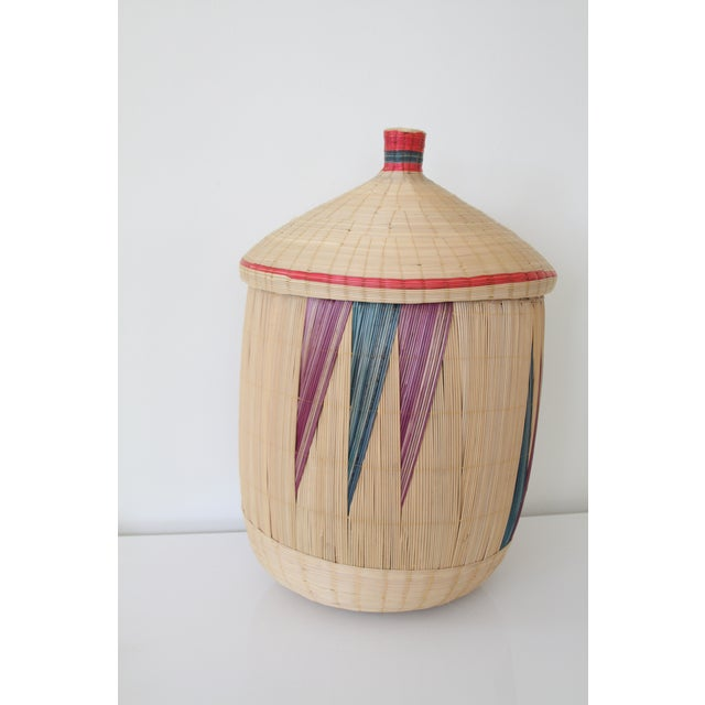 Woven Basket with Lid - Image 3 of 7