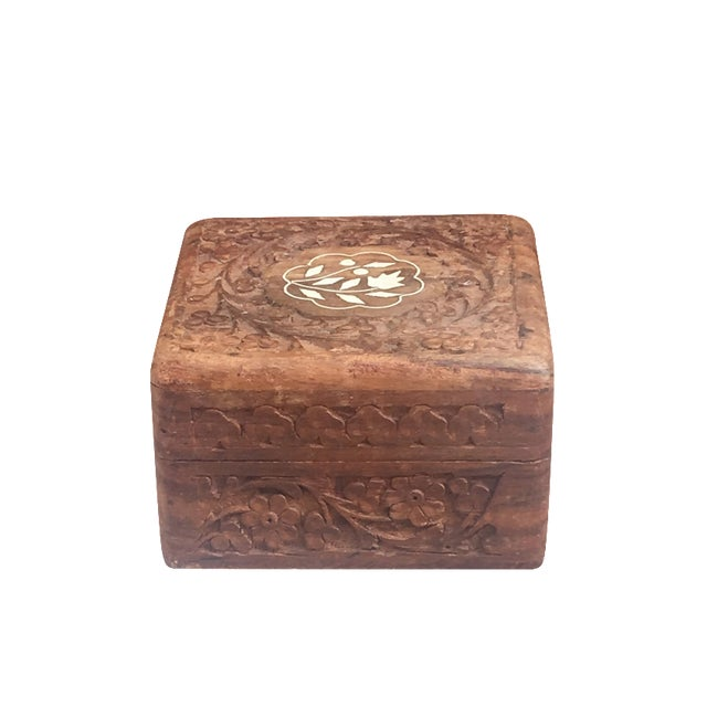 Image of Mother of Pearl Hand-Carved Decorative Box
