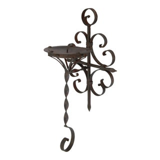 Curly Iron Candle Sconce