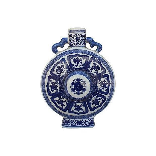 Blue & White Porcelain Asian Vase - Image 1 of 7
