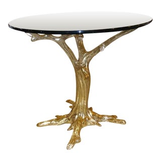 "Brass Center Table in form of ""Tree"""