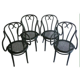 Bentwood Black Armchairs - Set of 4