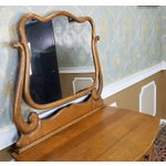 Image of Antique Victorian Quartered Oak Dresser & Mirror