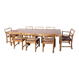 Dining Table and Eight Chairs by Edward Wormley for Dunbar