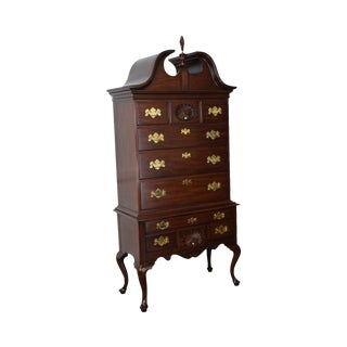 Henkel Harris Mahogany Queen Anne Highboy