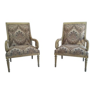 Louis XVI Style Accent Chairs - A Pair