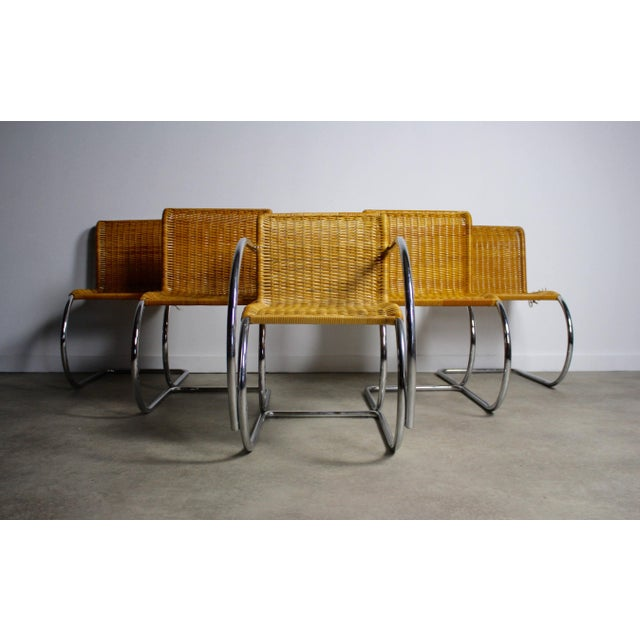 Ludwig Mies Van Der Rohe Mr10 Chairs Set Of 5 Chairish
