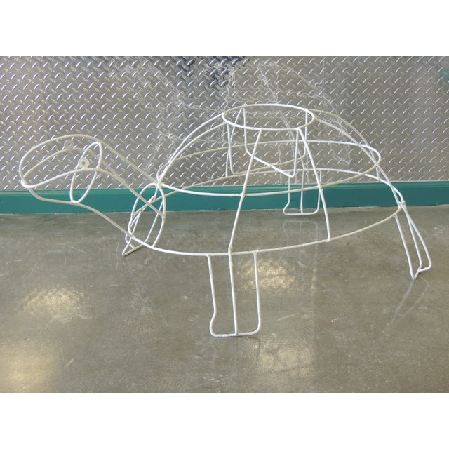 Monumental Outdoor Wire Turtle Planter - Image 2 of 4