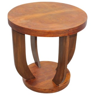 French Art Deco Coffee Table or Gueridon Exotic Walnut, circa 1930s