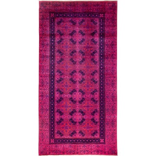 "Vibrance Over Dyed Hand Knotted Area Rug - 6'2"" X 12'1"""