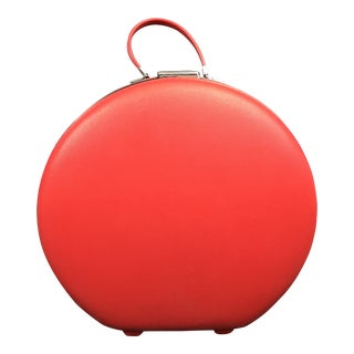 Vintage Cherry Red American Tourister Round Train Case