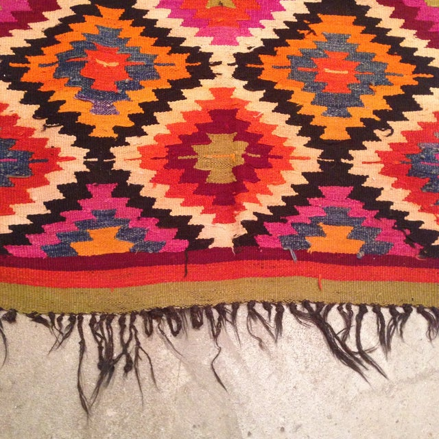 Vintage Turkish Kilim Runner - 4' X 9' - Image 4 of 7