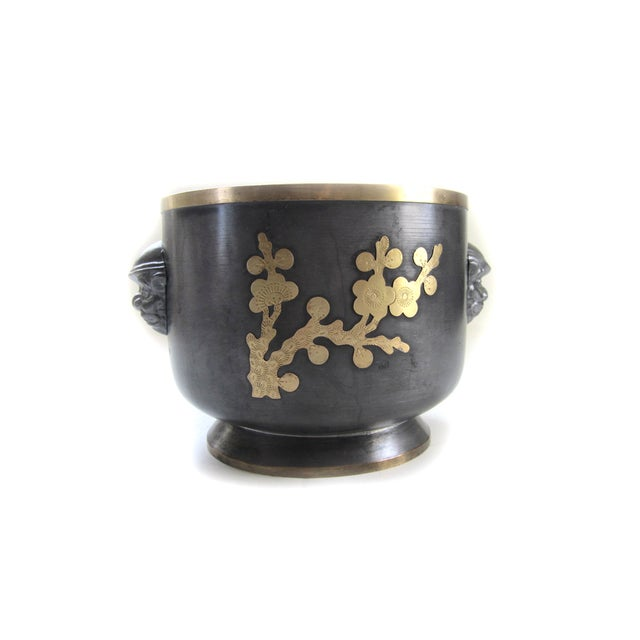 Pewter & Brass Jardiniere - Image 2 of 5
