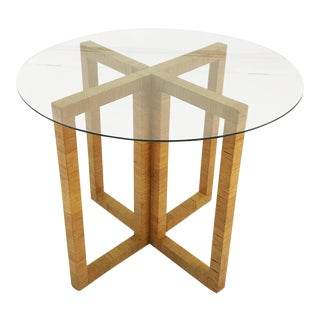 Wrapped Rattan X-Base Table