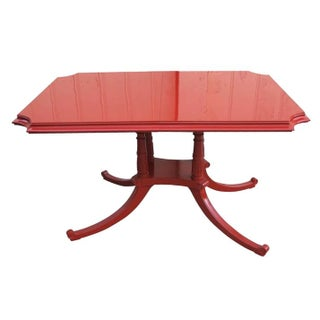 Red Lacquered 1960's Rehabbed Dining Table
