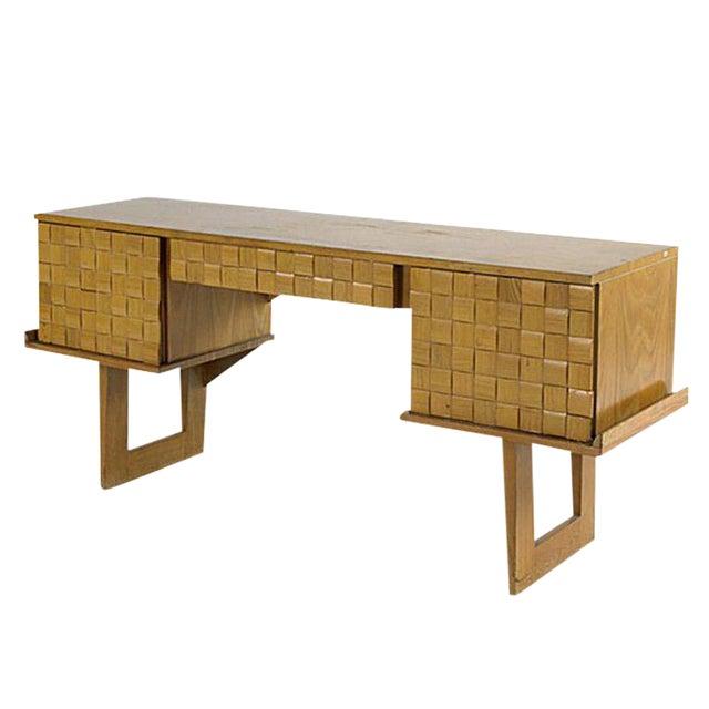 Paul Laszlo Bleached Oak Desk For Brown Saltman Chairish