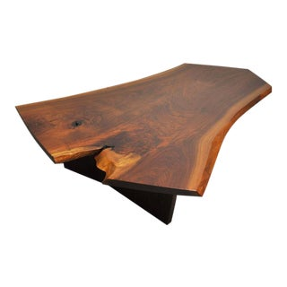 George Nakashima Walnut Slab Conoid Coffee Table