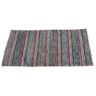 Swedish Hand-Woven Rag Rug - 2′5″ × 5′2″