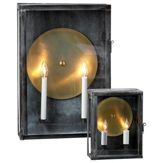 "Customizable ""Gaines"" Hand-Made Box Sconce"