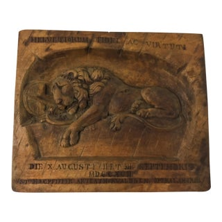 19th-C. Belgium Carved Wall Placque