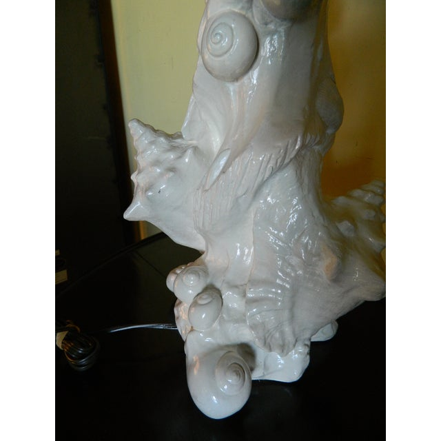 Vintage Sirmos Seashell Lamp - Image 5 of 9