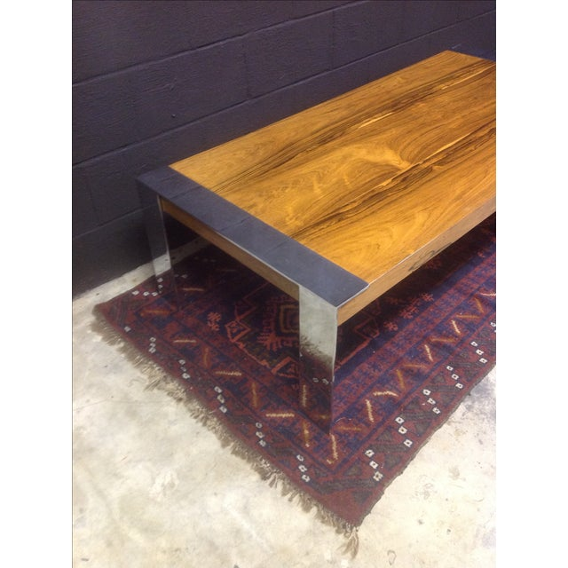 Milo Baughman Rosewood & Chrome Coffee Table - Image 7 of 8