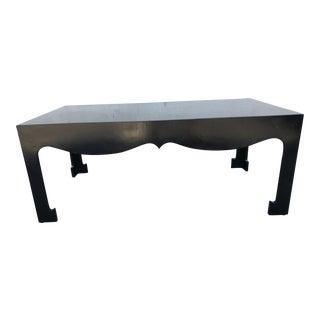 Vintage Hollywood Regency Ming Style Black Coffee Table