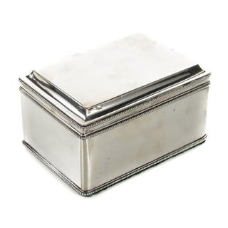 Dutch Silver Biscuit Box Mark of Bonebakker