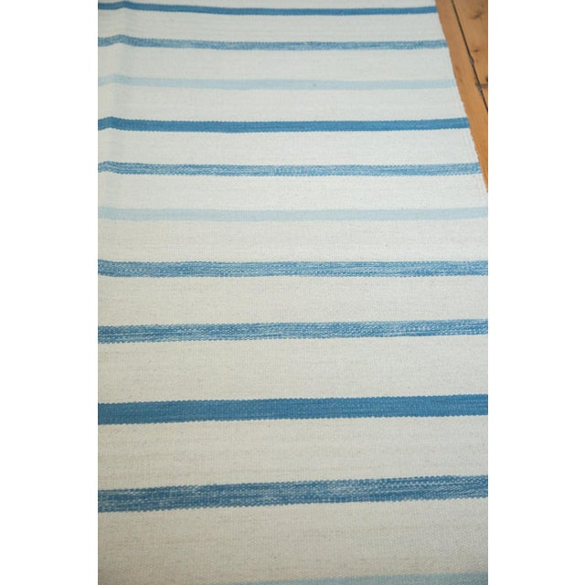 "Image of Striped Blue & White Kilim Rug - 10' x 14'1"""
