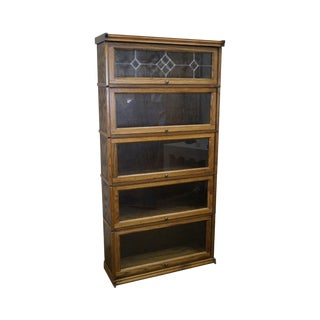 Mission Style Oak Barristers Stacking Look Bookcase
