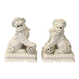 Italian Large Scale Foo Dogs - a Pair
