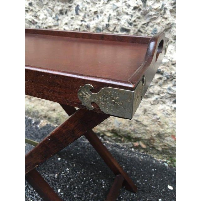 Vintage 1950s Chinoiserie Traditional Tray Table - Image 5 of 5