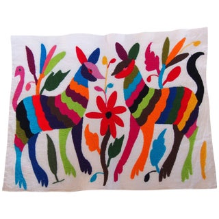 Otomi Embroidered Folk Art - Dogs