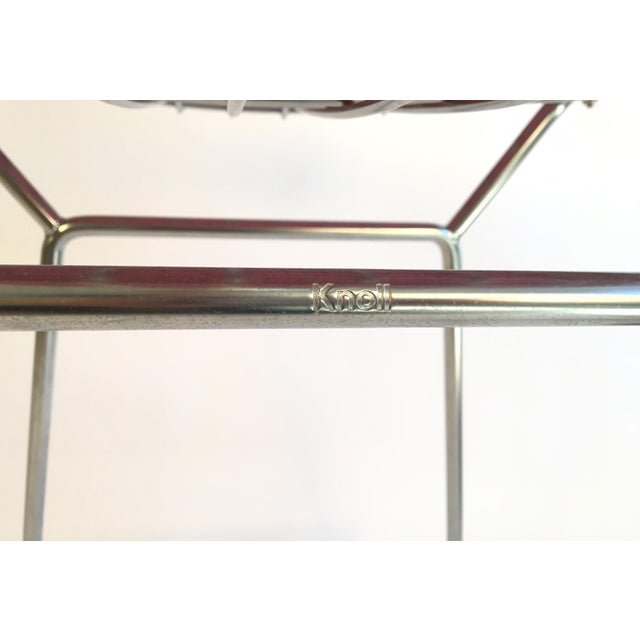 Harry Bertoia Knoll Signed Chrome Bar Counter Stools - a Pair - Image 7 of 7