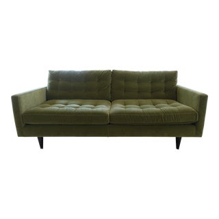 Crate & Barrel Petrie Mid-Century Modern Apartment Sofa